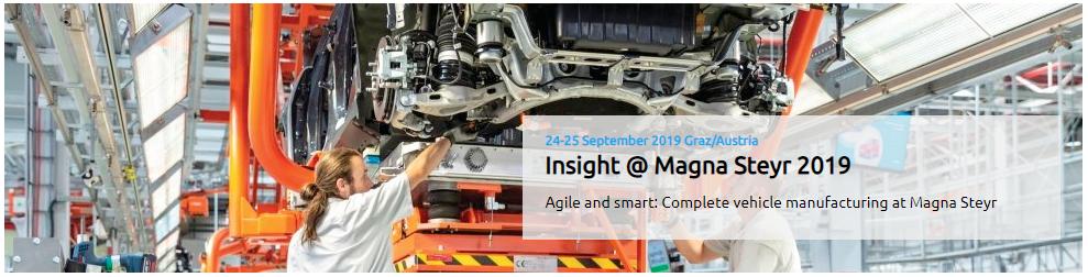 Insight @ Magna Steyr 2019 Event
