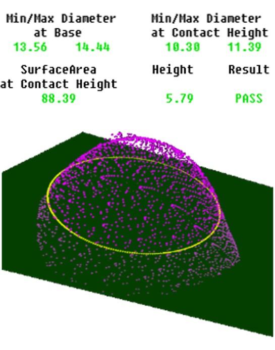 3D Mastic Dot Inspection